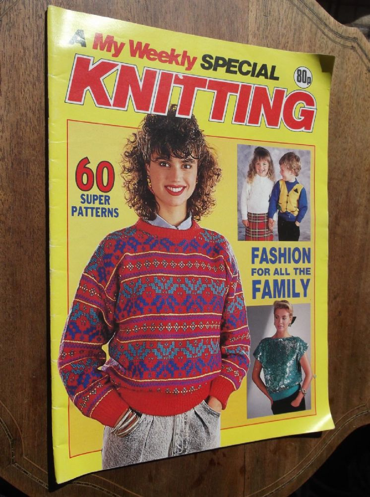 Vintage Knitting Pattern Magazine My Weekly Knitting Special 60
